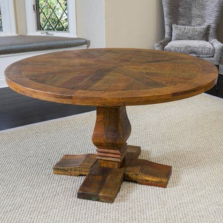 Christopher Knight Home California Vintage Round Mango Wood Dining Table