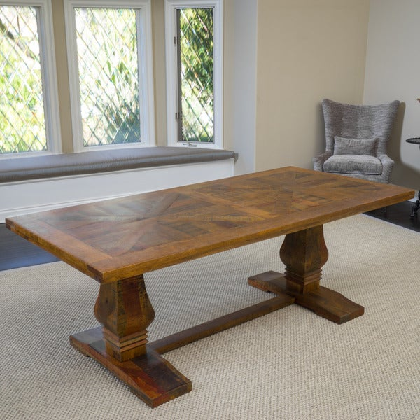 Knight Home California Vintage Rectangle Mango Wood Dining Table