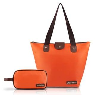 Jacki Design 2-piece Foldable Tote Bag and Toiletry Bag Set