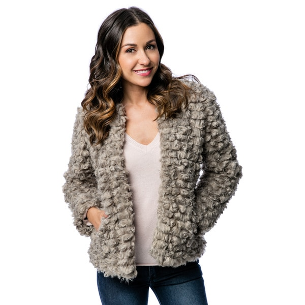 Women's Faux Poodle Fur Jacket