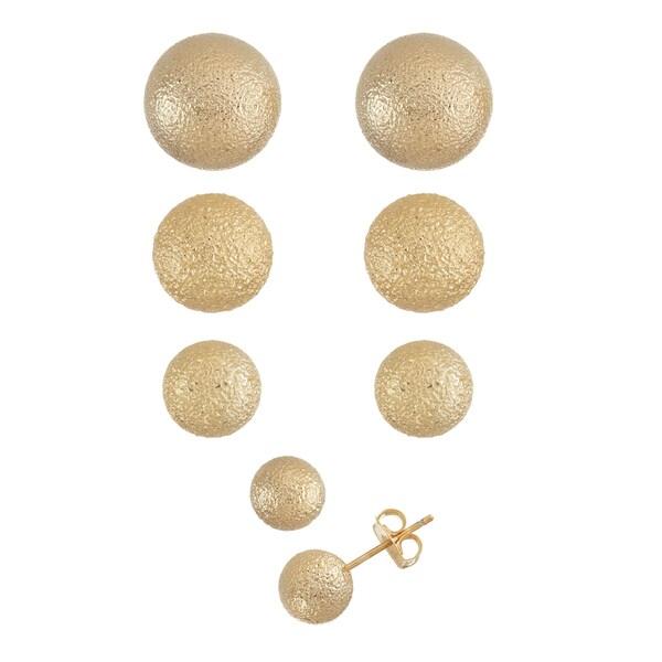 Isla Simone- GOLD TEXTURED STUD - 8MM/10MM/12MM/14MM