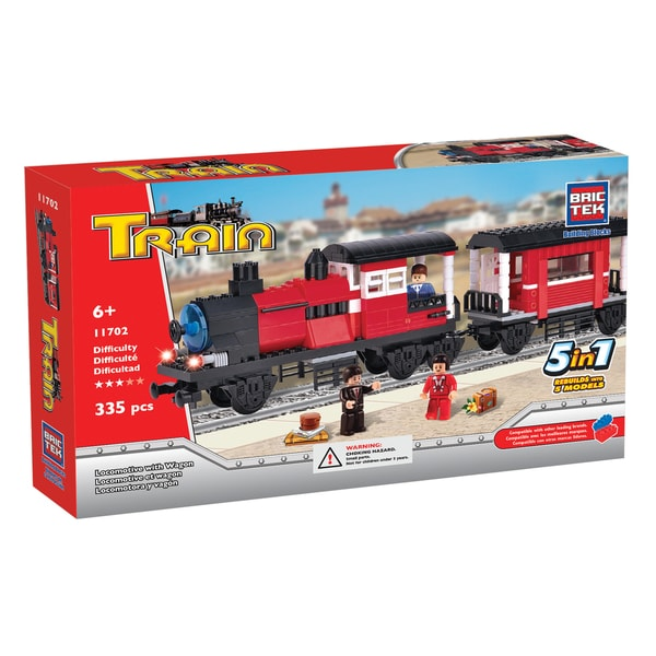 Brictek 5-in-1 Locomotive with Wagon