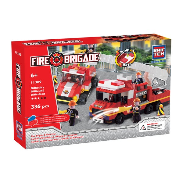 Brictek Fire Engine and with Road Car