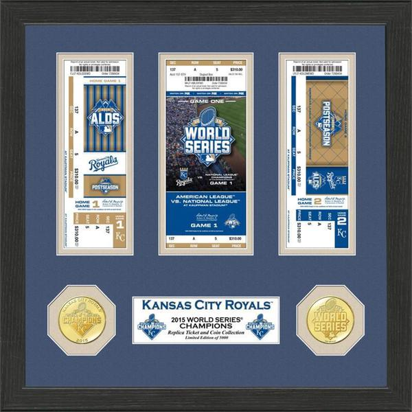 Kansas City Royals 2015 World Series Champions Ticket Collection