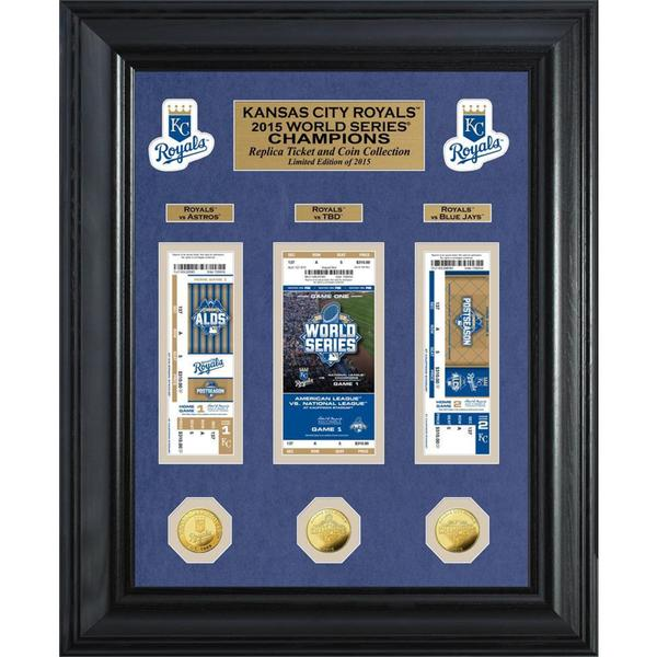 Kansas City Royals 2015 World Series Champions Deluxe Gold Coin & Ticket Collection