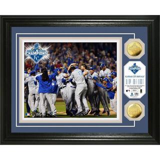 "Kansas City Royals 2015 World Series Champions ""Celebration"" Gold Coin Photo Mint"