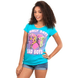 Junior DC Comics I Only Date Bad Boys T-shirt