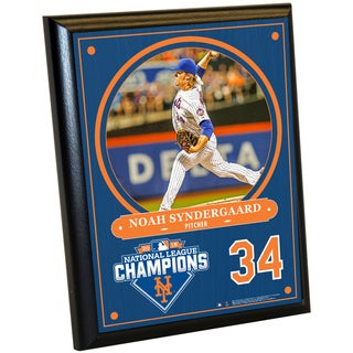 New York Mets 2015 National League Champions Noah Syndergaard 8x10 Plaque w/ Game Used Dirt from Citi Field