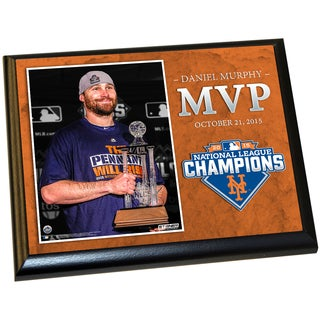 New York Mets 2015 National League Championship Series MVP Daniel Murphy 8x10 Plaque w/ Game Used Dirt from Citi Field