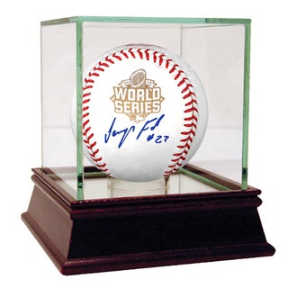 JEURYS FAMILIA AUTOGRAPHED MLB OFFICIAL 2015 WORLD SERIES LOGO BASEBALL
