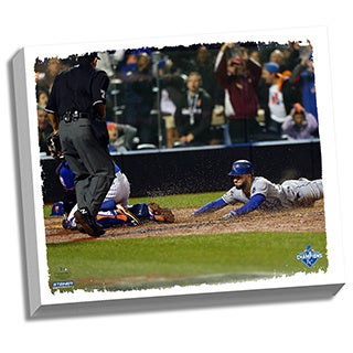Kansas City Royals 2015 World Series Champions 22x26 Key Moment Stretched Canvas