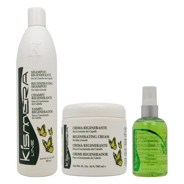 Kismera Hair Growth Regenerating 4-ounce Shampoo + Cream + Lotion Set