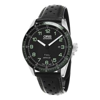 Oris Men's 735 7706 4494 LS 'Artix Calobra' Black Dial Black Leather Strap Day Date Limited Edition Automatic Watch