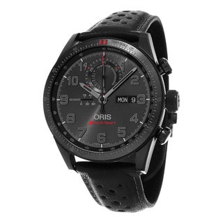 Oris Men's 778 7661 7784 LS 'Audi Sport' Black Dial Black Leather Strap Chronograph Limited Edition Automatic Watch