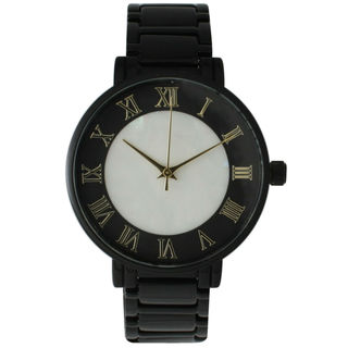 Olivia Pratt Women's Pearly Center Bracelet Watch