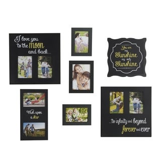 "Melannco ""You Are My Sunshine"" Sentiment Plastic Collages (Set of 7)"