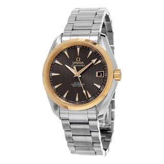 Omega Men's 231.20.39.21.06.004 'Seamaster 150' Taupe Dial Stainless Steel Two Tone Swiss Automatic Watch