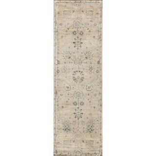 Francis Stone/ Blue Runner Rug (2'4 x 7'9)