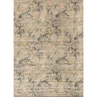 Francis Cream/ Slate Rug (9'2 x 12'2)