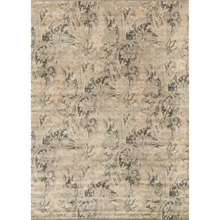 Francis Cream/ Slate Rug (7'6 x 10'5)