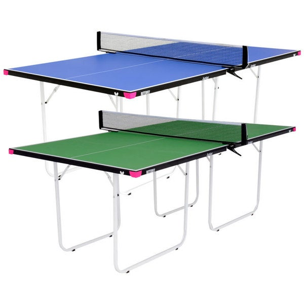 Butterfly Junior 3/4 Size Table Tennis Table - 3 Year Warranty - Foldable with Wheels - Fully Assembled - Mini Ping Pong Table