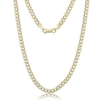 Two-tone Goldplated Sterling Silver 4mm Curb Chain Necklace