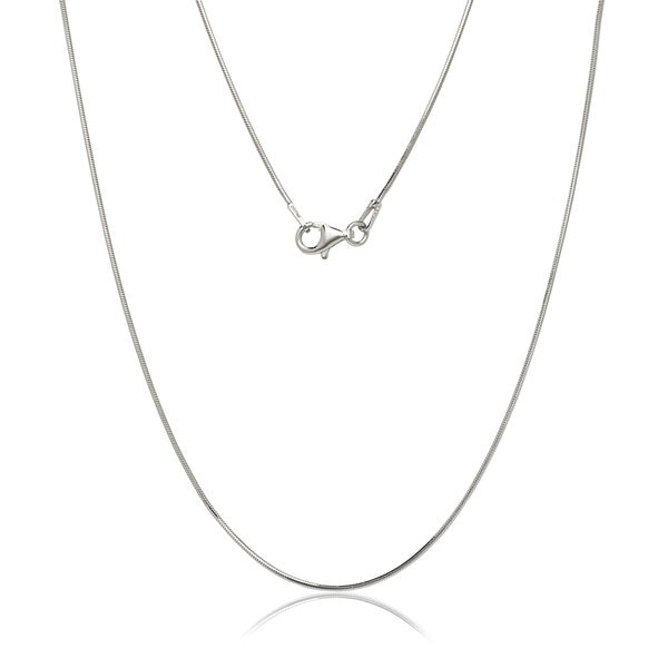 Italian Sterling Silver Rhodium-plated 1.0 mm Snake Chain (16-30 inch)