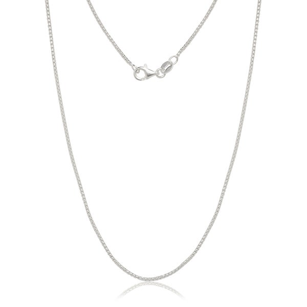 "Italian Sterling Silver 1.25mm Half-round Box Chain (16""-30"")"