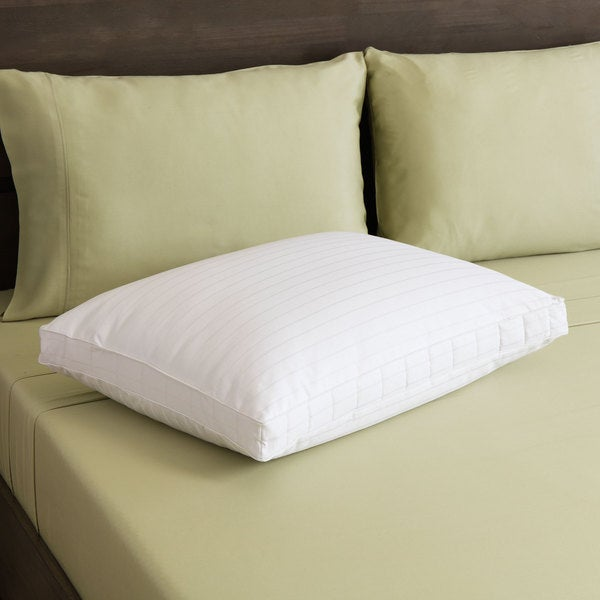 550 Thread Count Cotton Duet Microgel and Nanofeather Firm Bed Pillow