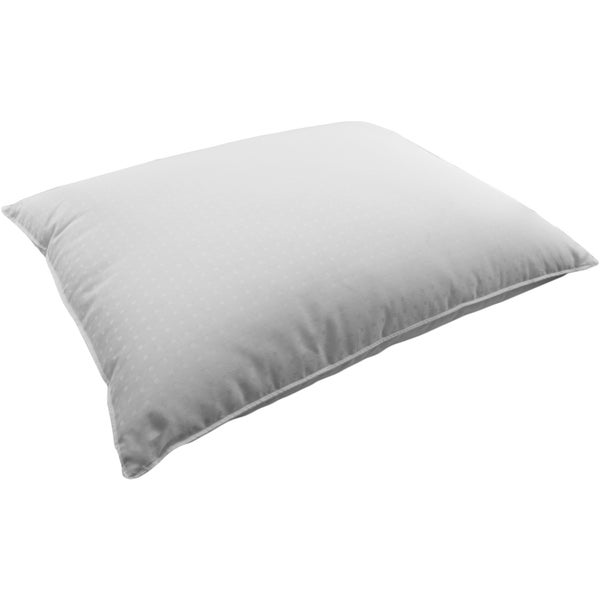 380 Thread Count Dobby Dot White Down Pillow - All Position Sleepers
