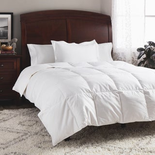 All Season Cotton Dobby Striped White Down Comforter