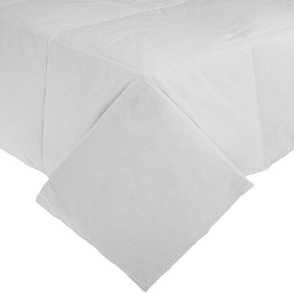 Lightweight 380 Thread Count Cotton Sateen White Down Comforter