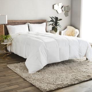 Lightweight 380 Thread Count Cotton Sateen White Down Comforter