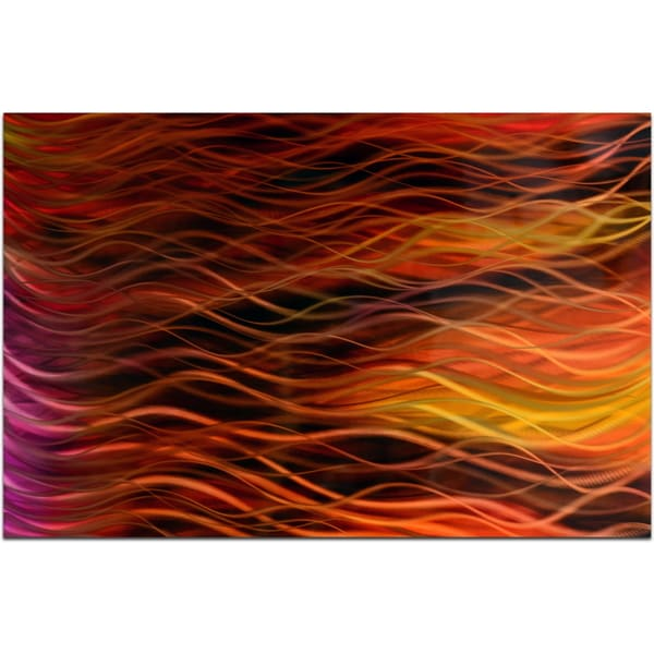 Autumn's Amber Handmade Modern Metal Wall Art