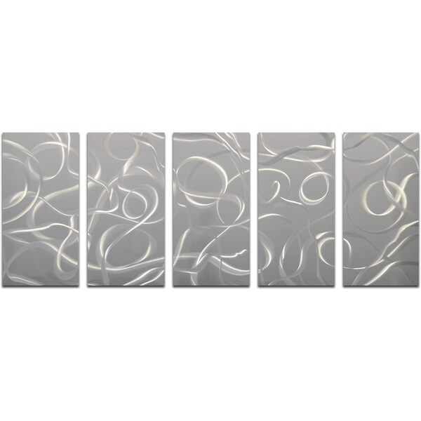 A Cacophony of Twirls 5-piece Handmade Modern Metal Wall Art
