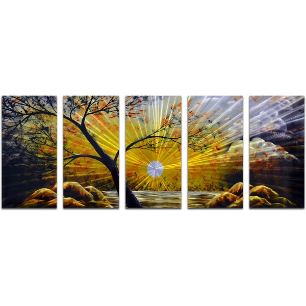 Mother Natures Finest 5-piece Handmade Modern Metal Wall Art