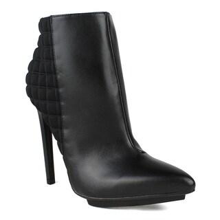 Fahrenheit Sammy-04 Checkered Back Pointed-toe Women's High Heel Booties