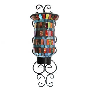 Colorful Mosaic Glass Wall Sconce