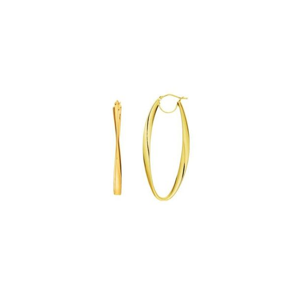 14k Gold Fancy Oval/ Twist Earrings