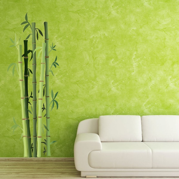 Bamboo Bushes Floral Vinyl Wall Art