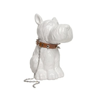 Scottie Dog Bank with Brown Necklace
