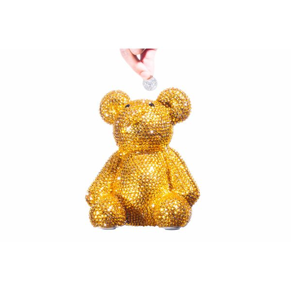 Rhinestone Encrusted Bear Bank
