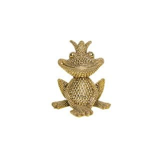 Electroplated Frog Tabletop Decor with Crown