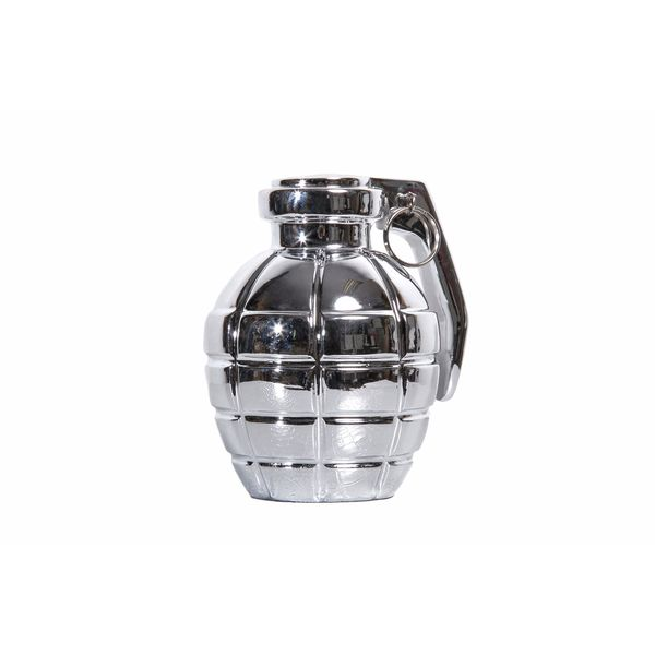 Silver Grenade Tabletop Decor