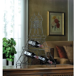 French Eiffel Tower 6-bottle Wine Holder Rack