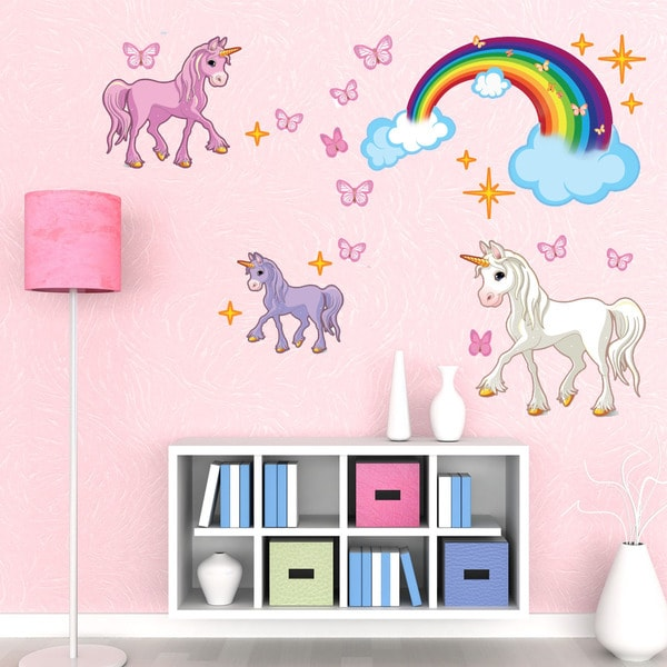 Unicorn Set Girl Nursery Vinyl Wall Art