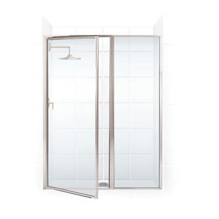 Legend Series Framed Hinge Swing Shower Door with Inline Panel 54 1/2 inches to 56 inches wide x 66 inches high