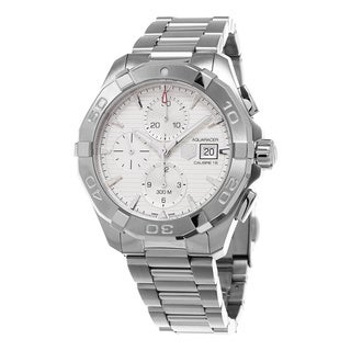 Tag Heuer Men's CAY2111.BA0925 '300 Aquaracer' Silver Dial Stainless Steel Chronograph Swiss Automatic Watch
