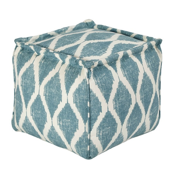 SB Signature Design by Ashley Bruce Teal/White Pouf