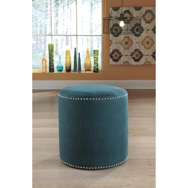 Signature Design by Ashley Revel Teal Accent Ottoman